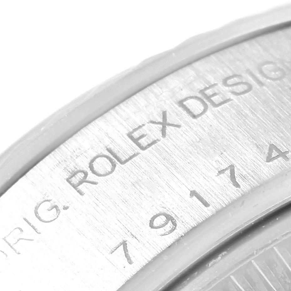 21583 Rolex Datejust 26 Steel White Gold Roman Dial Ladies Watch 79174 SwissWatchExpo