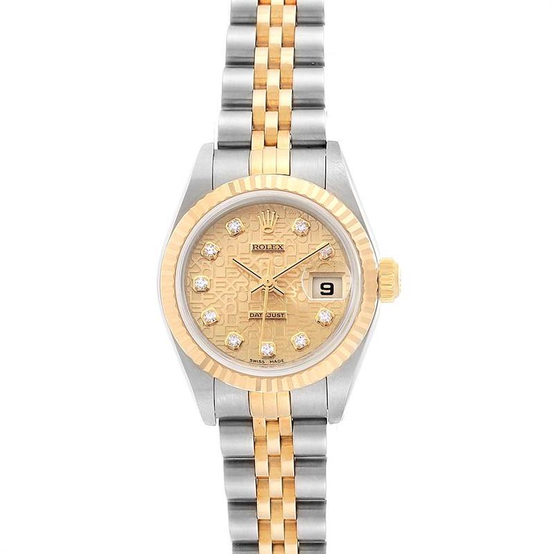 Rolex Datejust Steel Yellow Gold Diamond Dial Ladies Watch 79173 NOS SwissWatchExpo