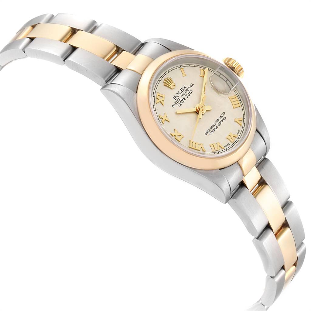 Rolex Datejust Steel Yellow Gold Pyramid Dial Ladies Watch 69163 Box Papers SwissWatchExpo