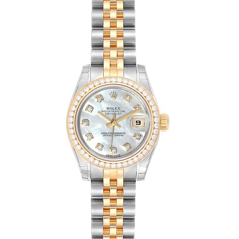 Rolex Datejust Steel Yellow Gold MOP Diamond Ladies Watch 179383 Unworn SwissWatchExpo