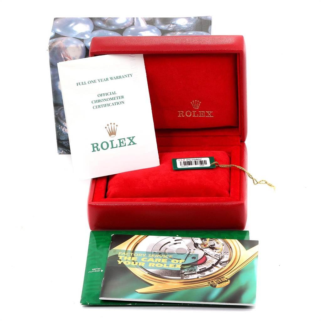 24026 Rolex Datejust Steel Yellow Gold Diamond Ladies Watch 79173 Box Papers SwissWatchExpo