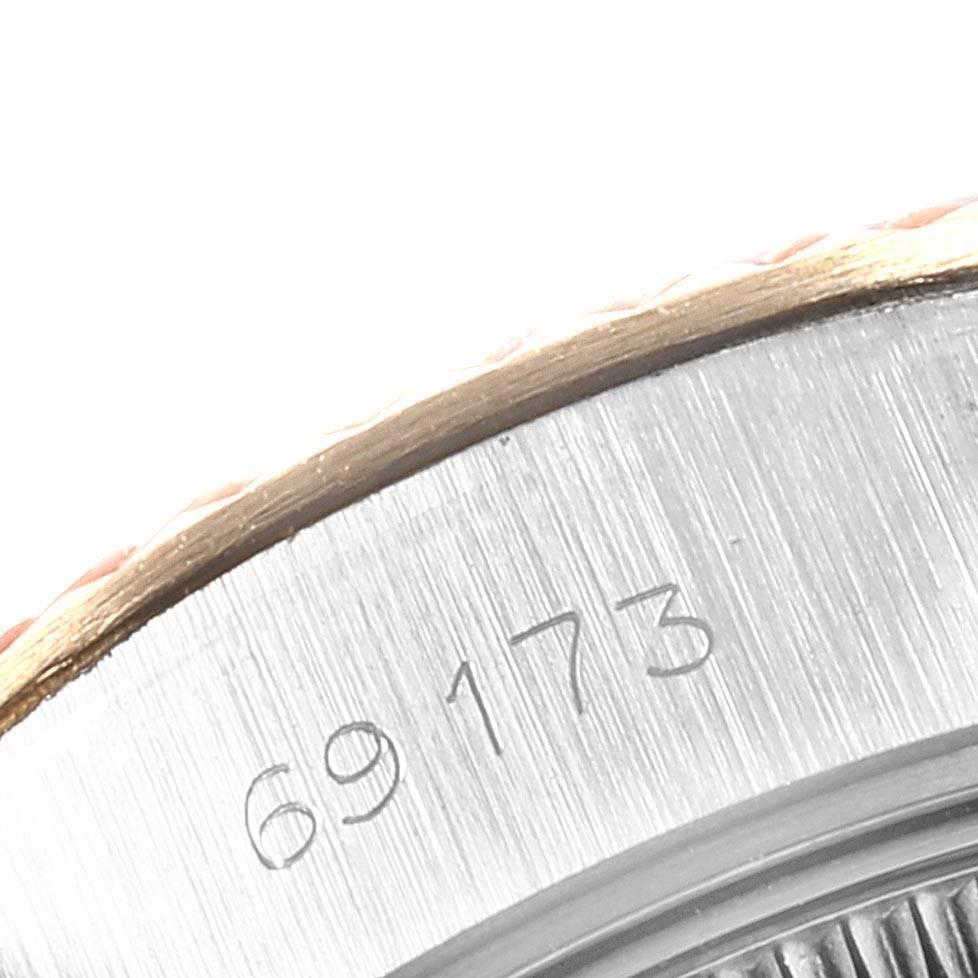 24118 Rolex Datejust 26 Steel Yellow Gold Fluted Bezel Ladies Watch 69173 SwissWatchExpo