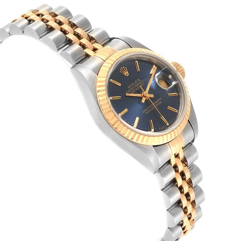 Rolex Datejust 26 Steel Yellow Gold Blue Dial Ladies Watch 69173 SwissWatchExpo
