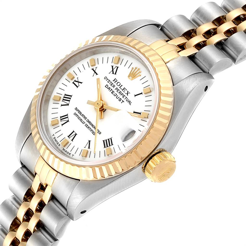 Rolex Datejust Steel Yellow Gold White Dial Ladies Watch 69173 SwissWatchExpo
