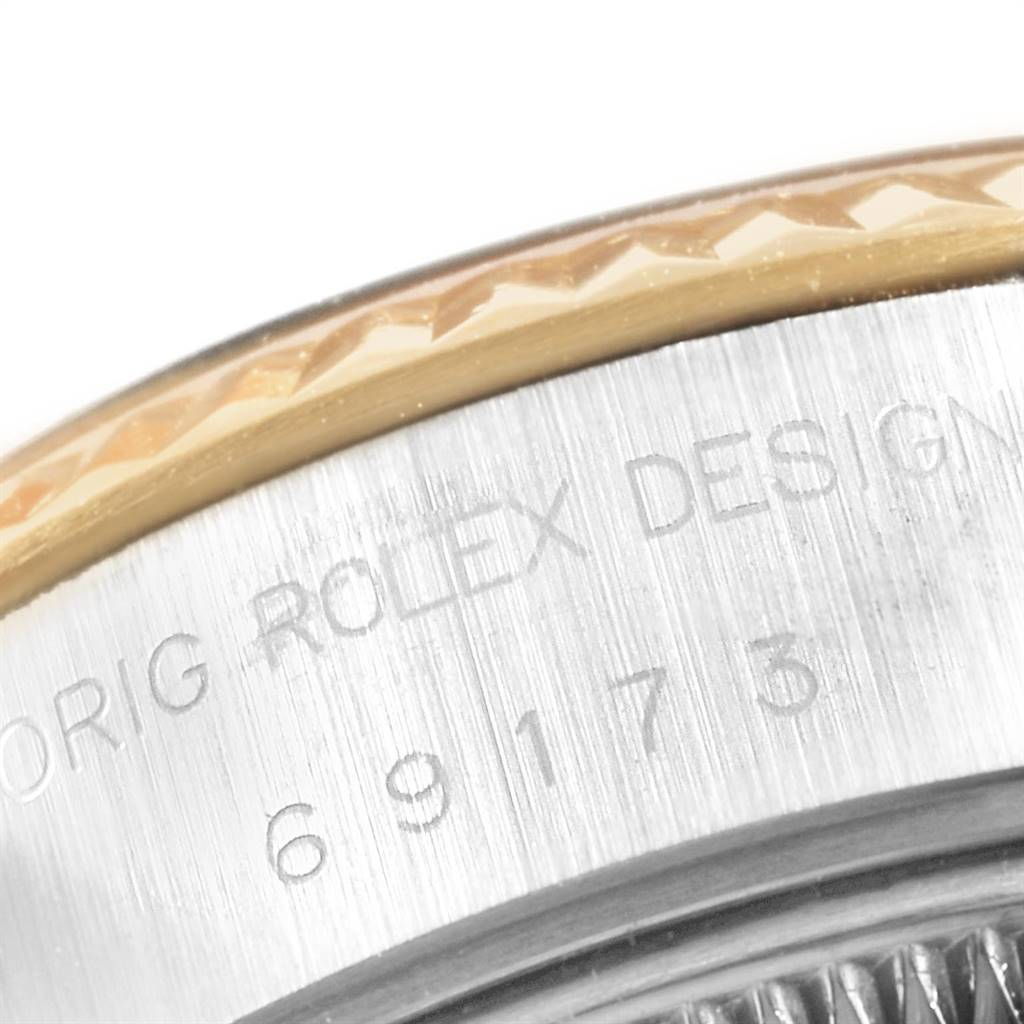 22943 Rolex Datejust 26 Steel Yellow Gold Anniversary Dial Ladies Watch 69173 SwissWatchExpo