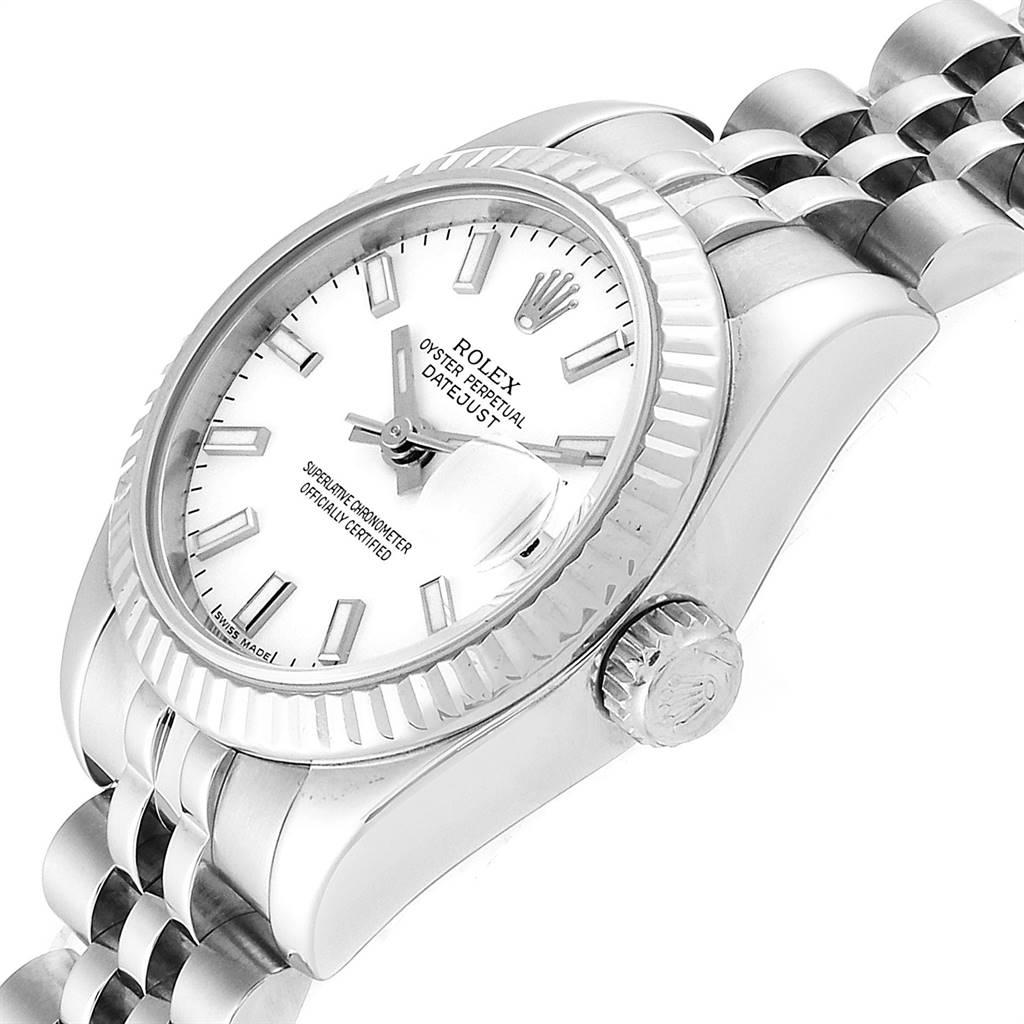 Rolex Datejust 26 Steel White Gold Ladies Watch 179174 Box Papers SwissWatchExpo