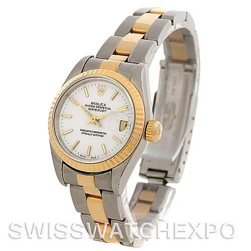 2587 Rolex Datejust Ladies Ss & 18k Yellow Gold Watch 69173 SwissWatchExpo