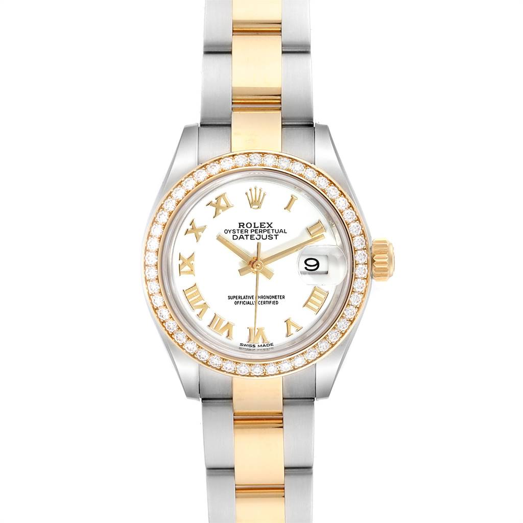 Rolex Datejust 28 Steel Rolesor Yellow Gold Diamond Ladies Watch 279383