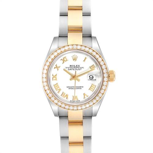 Photo of Rolex Datejust 28 Steel Rolesor Yellow Gold Diamond Ladies Watch 279383