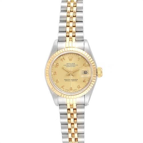 Photo of Rolex Datejust 26 Steel Yellow Gold Fluted Bezel Ladies Watch 69173