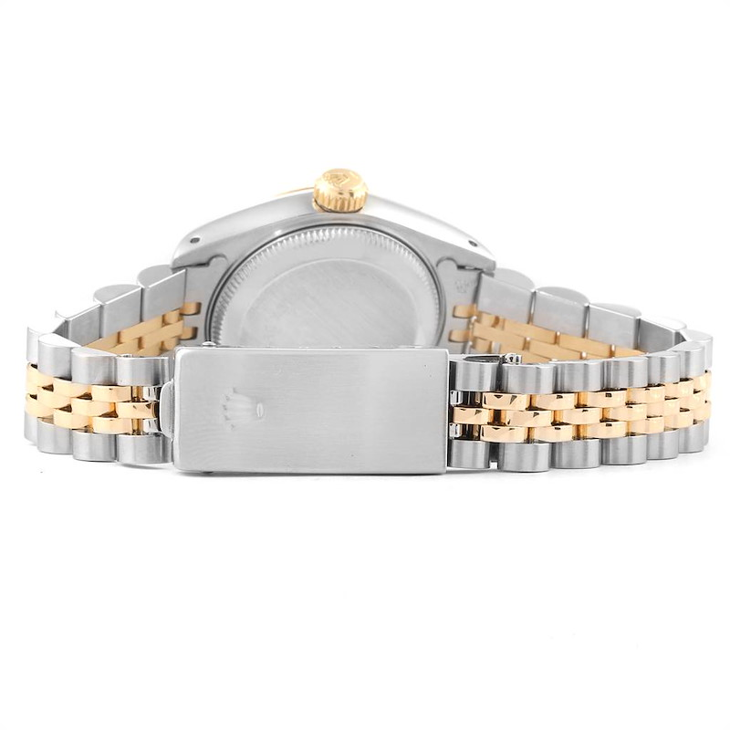 Rolex Datejust 26 Steel Yellow Gold Linen Dial Ladies Watch 69173 SwissWatchExpo