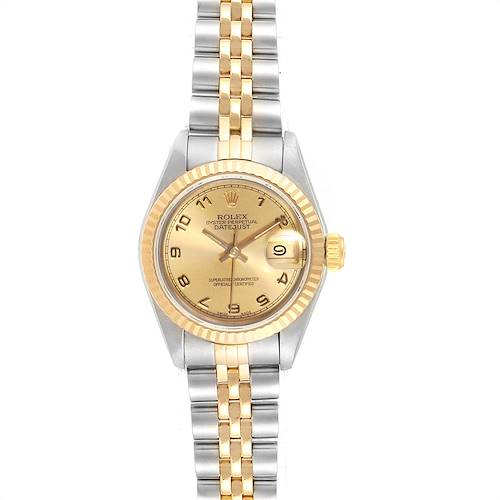 Photo of Rolex Datejust Steel Yellow Gold Arabic Numerals Ladies Ladies Watch 69173