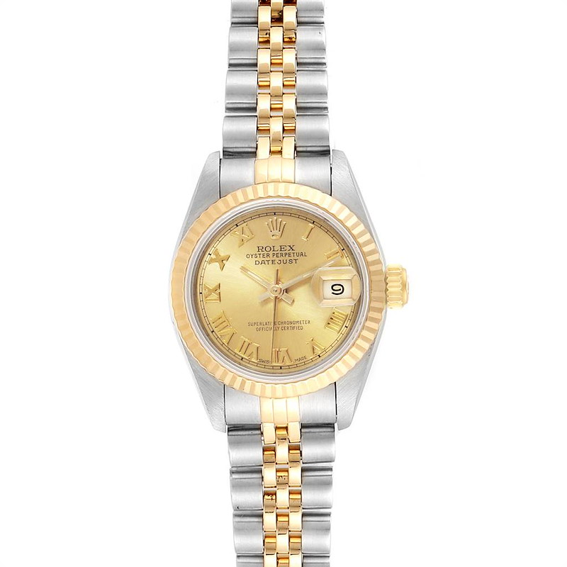 Rolex Datejust Steel Yellow Gold Roman Numerals Ladies Watch 69173 SwissWatchExpo