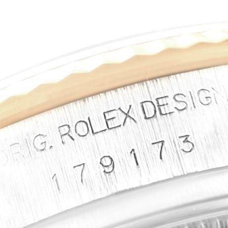 Rolex Datejust 26 Steel Yellow Gold White Dial Ladies Watch 179173 SwissWatchExpo
