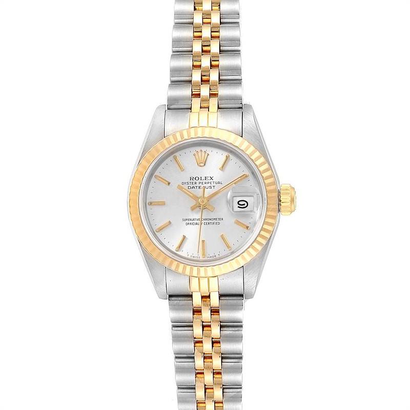 Rolex Datejust Steel Yellow Gold Silver Dial Ladies Watch 69173 SwissWatchExpo