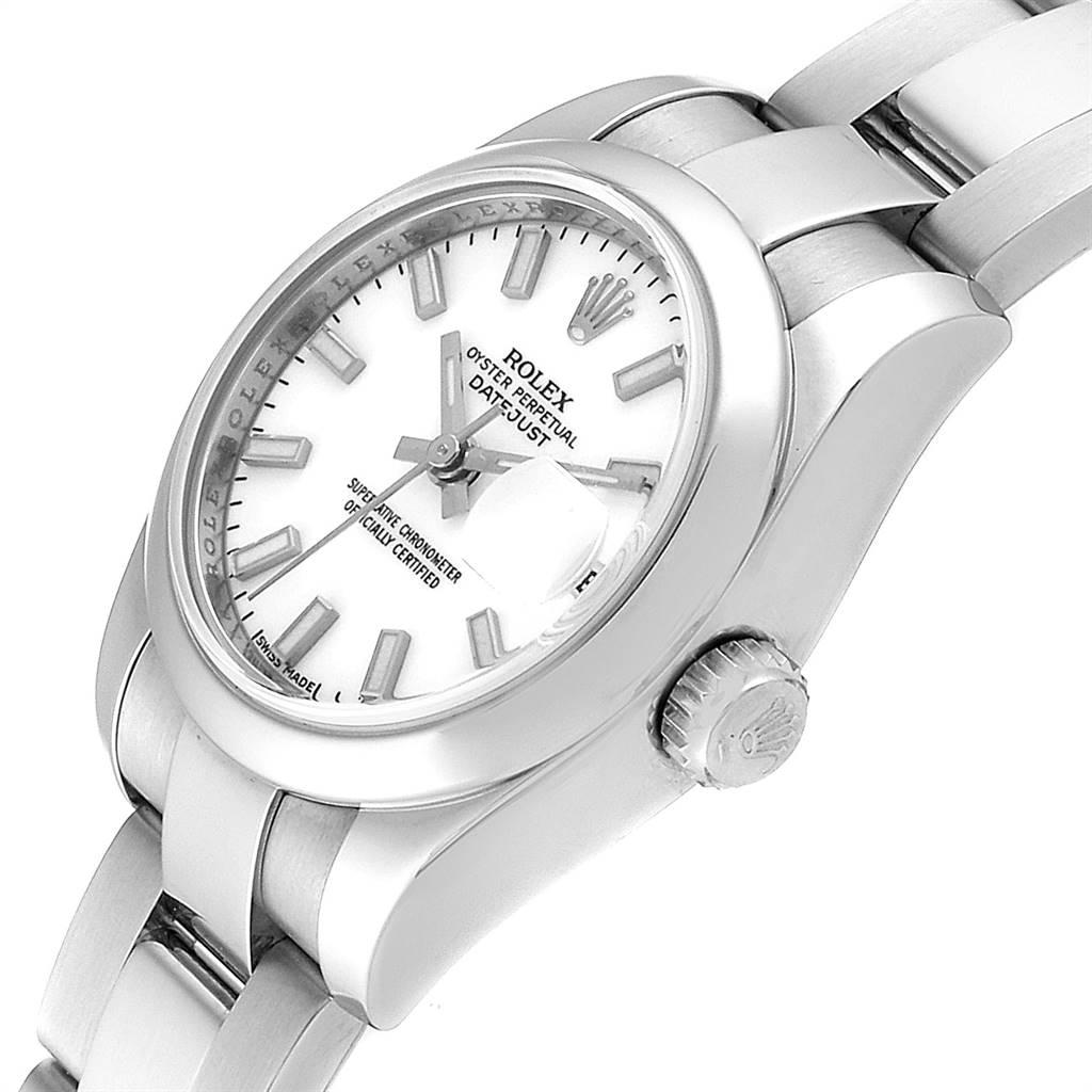 18390A Rolex Datejust 26 White Dial Oyster Bracelet Ladies Watch 179160 SwissWatchExpo