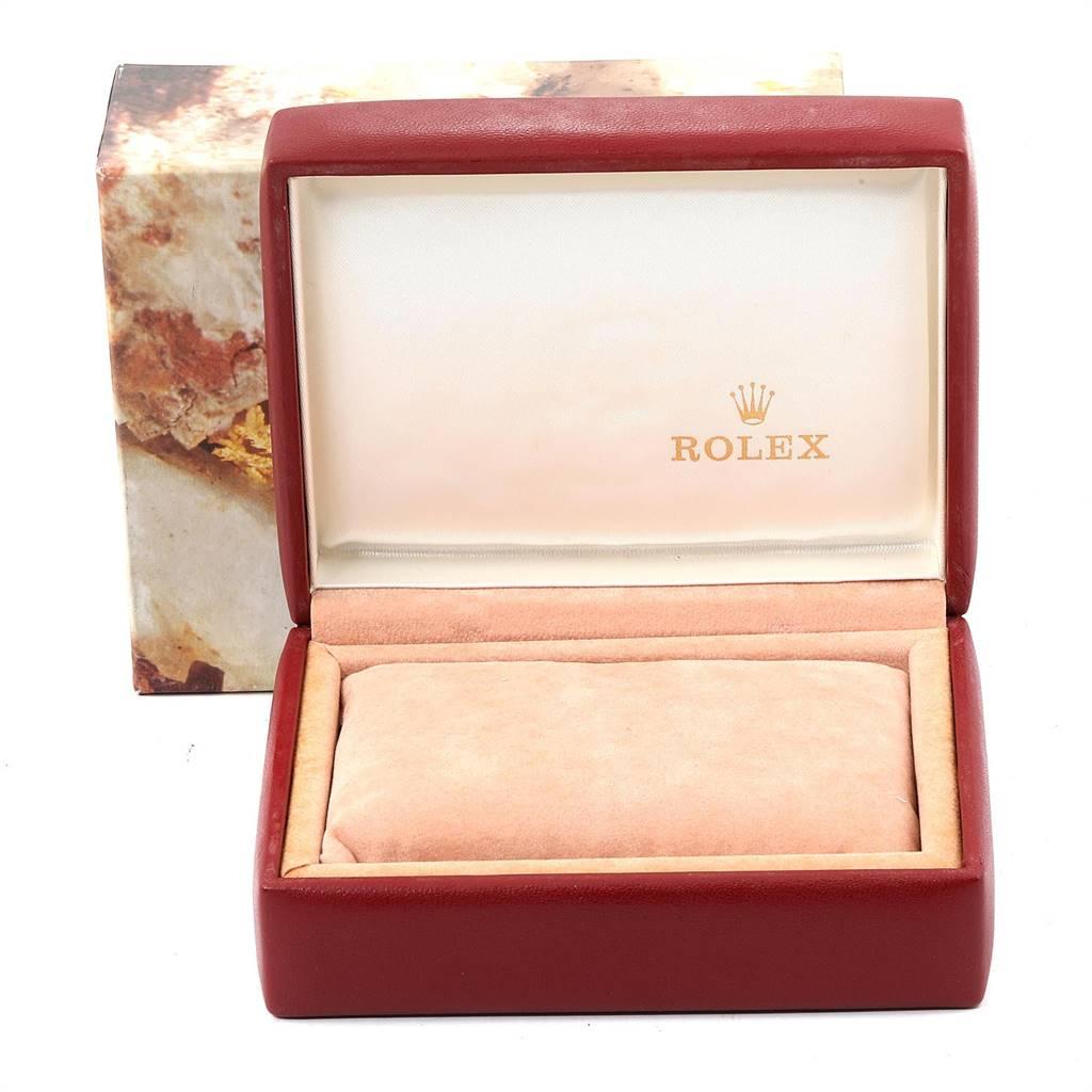 Rolex Date Steel Yellow Gold Fluted Bezel Ladies Watch 6917 SwissWatchExpo