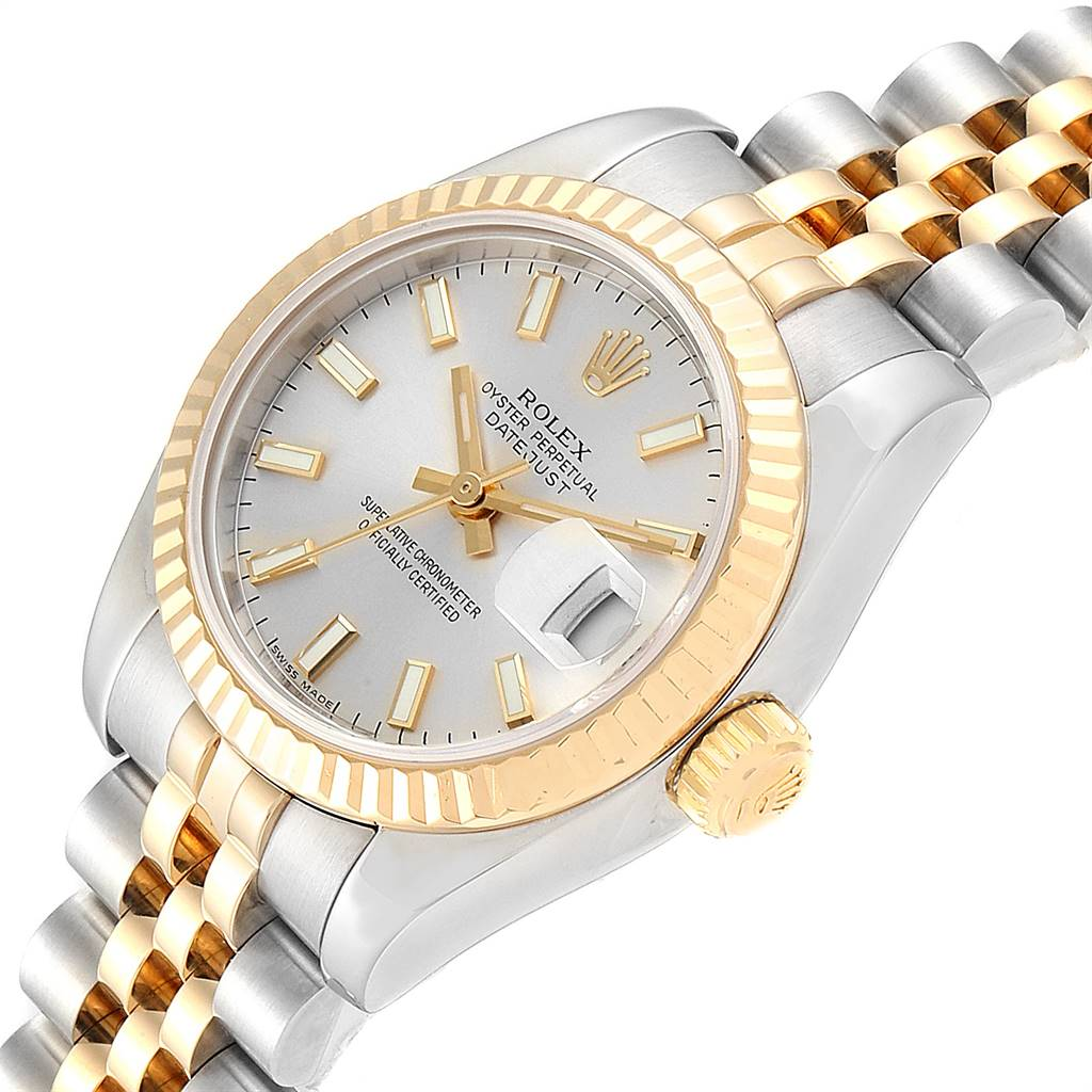 Rolex Datejust 26mm Steel Yellow Gold Ladies Watch 179173 Box Papers SwissWatchExpo