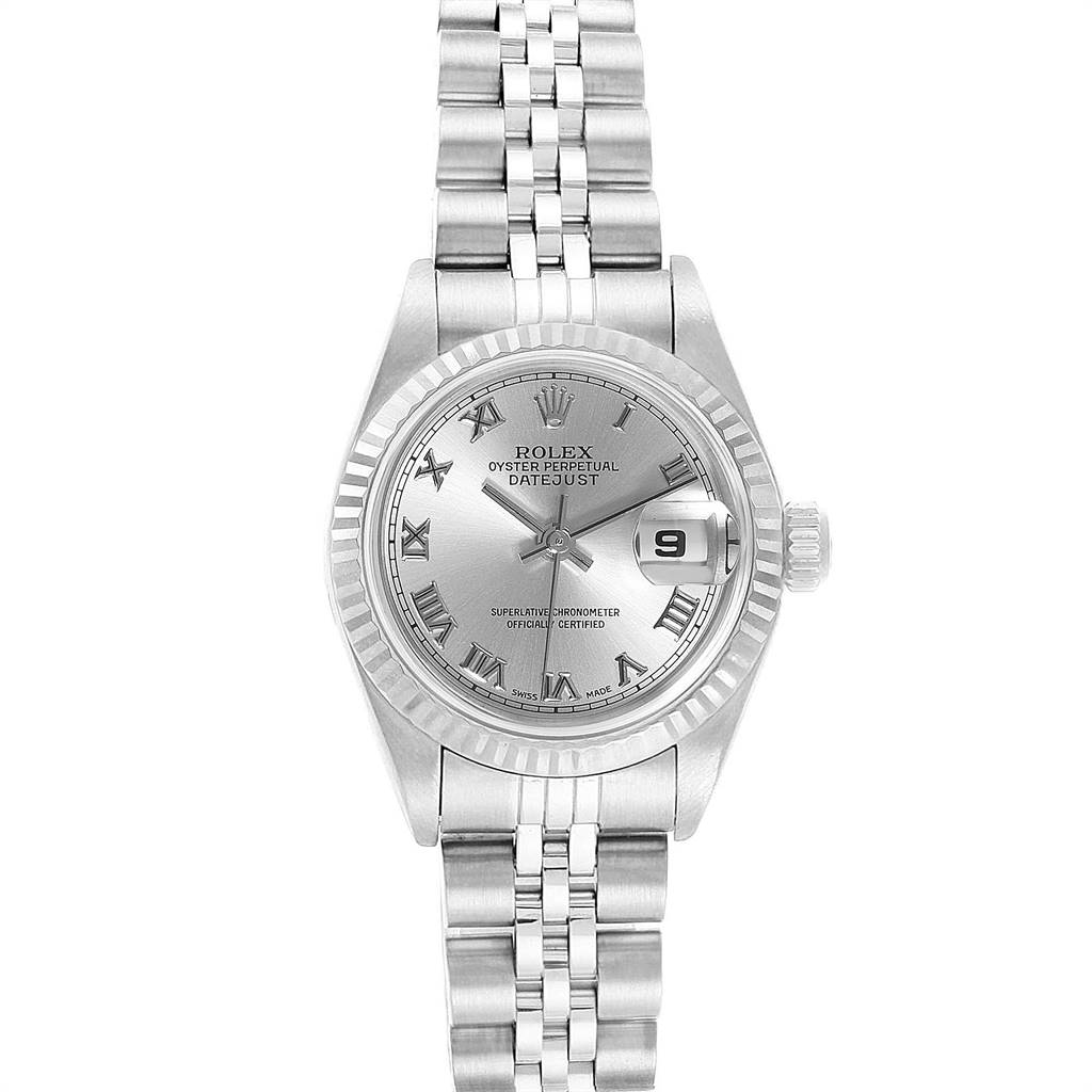 Rolex Datejust 26 Steel White Gold Ladies Watch 69174 Box Papers SwissWatchExpo
