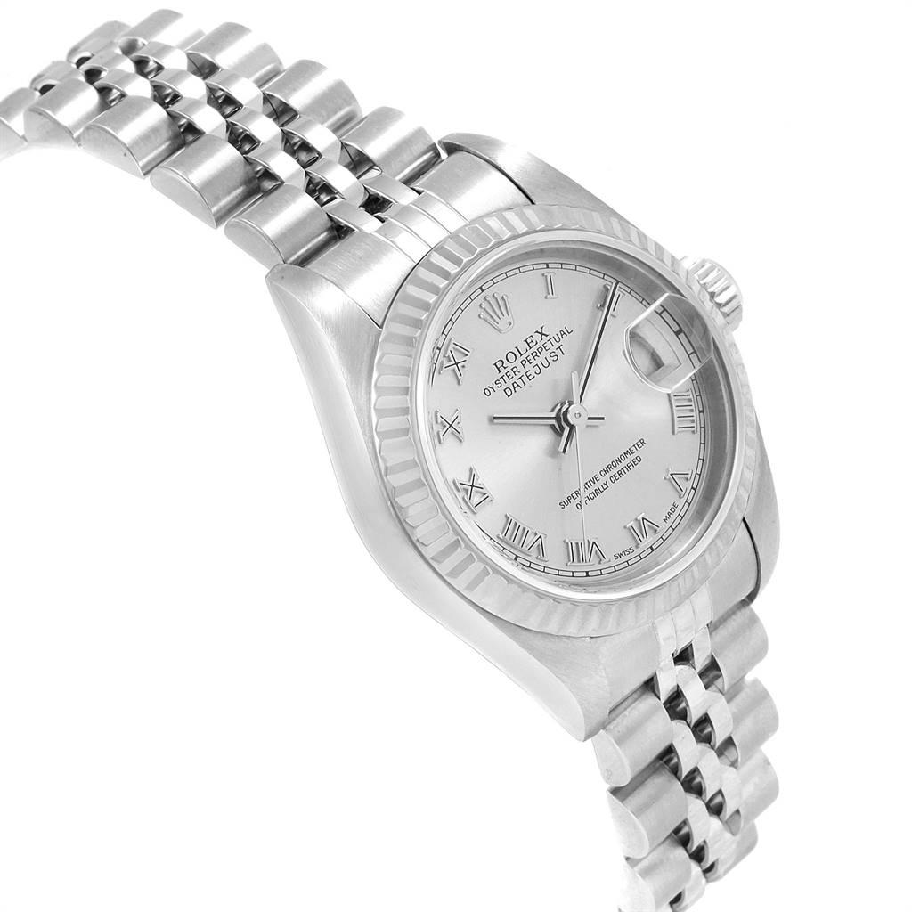 24695 Rolex Datejust 26 Steel White Gold Ladies Watch 69174 Box Papers SwissWatchExpo