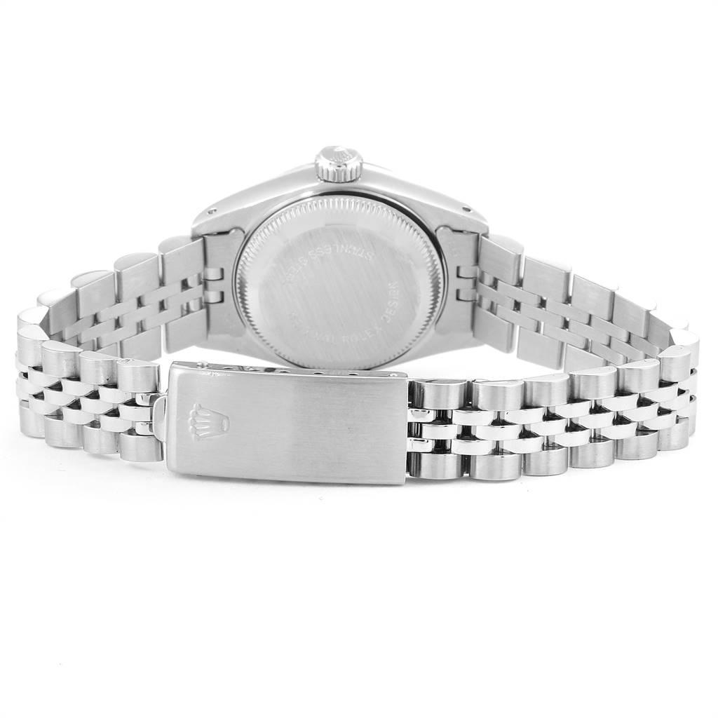 Rolex Datejust Steel White Gold Blue Baton Dial Ladies Watch 69174 SwissWatchExpo