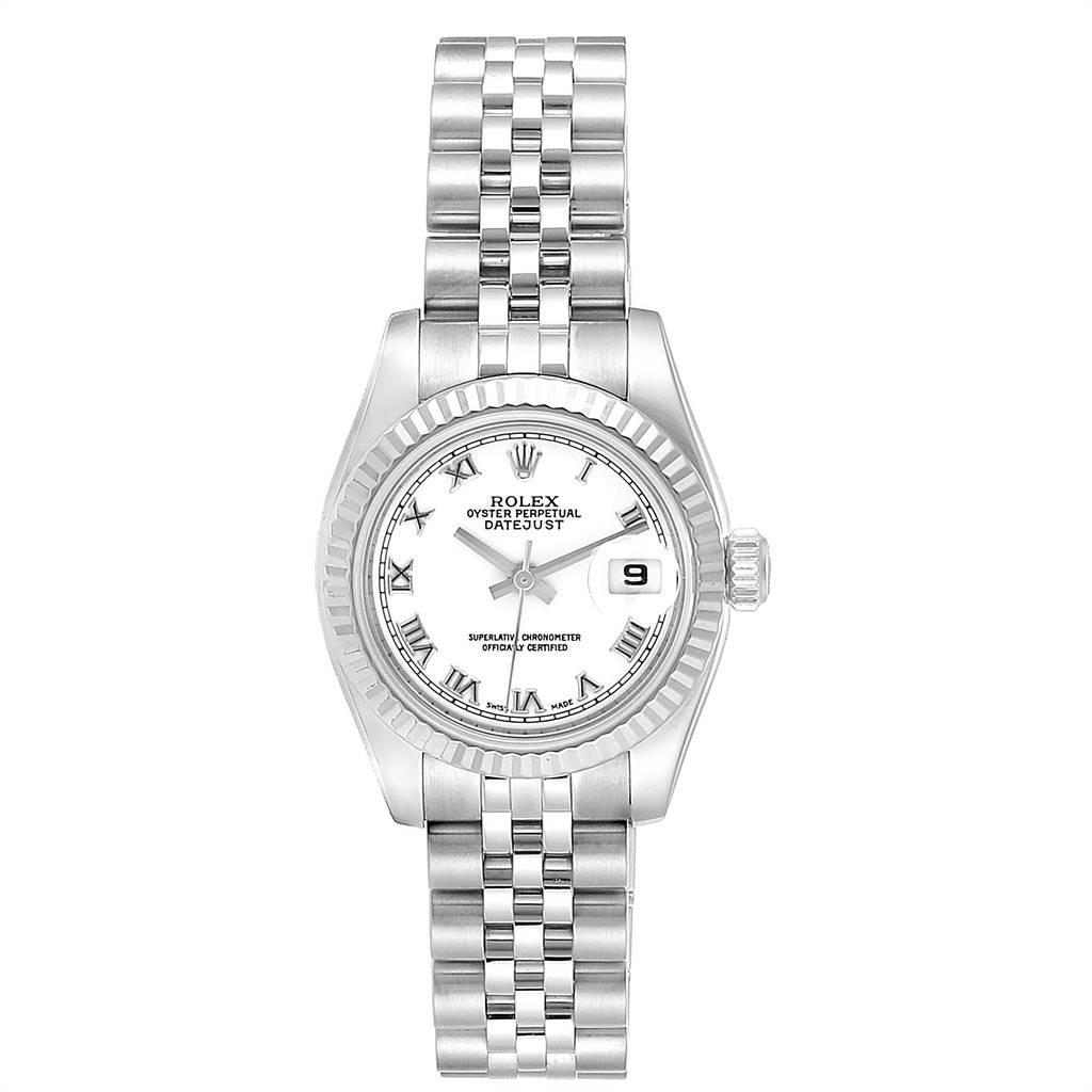 24276 Rolex Datejust 26 Steel White Gold Ladies Watch 179174 Box Papers SwissWatchExpo