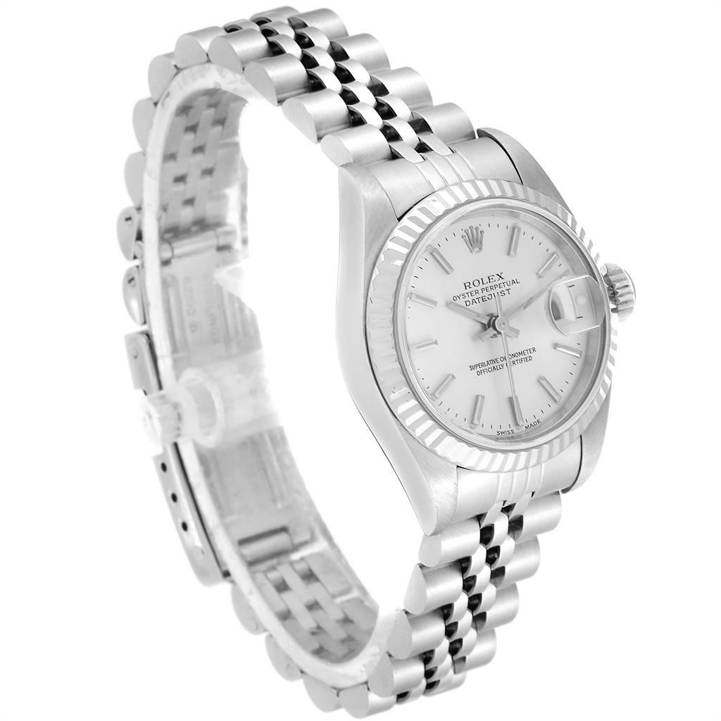 Rolex Datejust 26 Steel White Gold Silver Dial Ladies Watch 79174 SwissWatchExpo