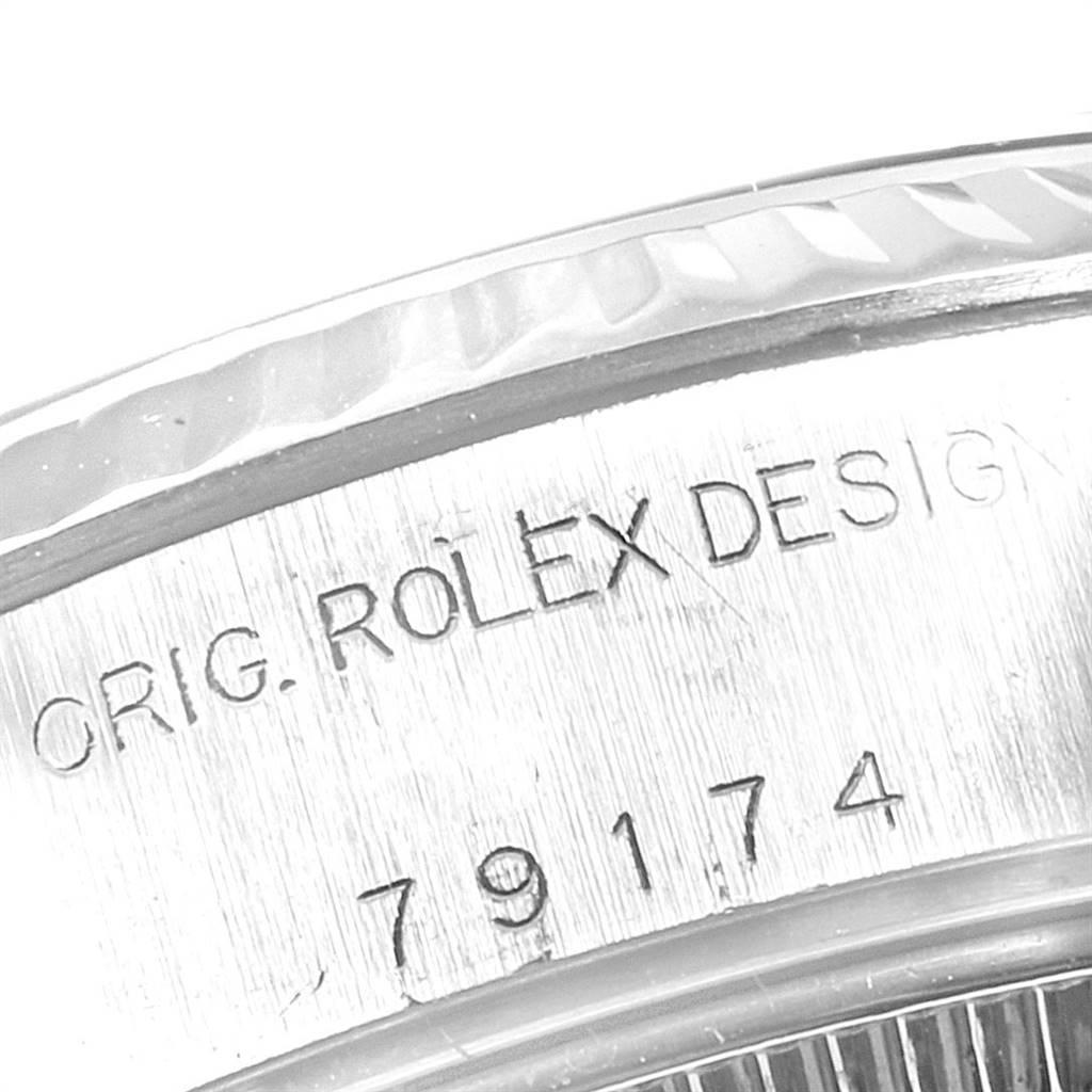 24763 Rolex Datejust 26 Steel White Gold Rhodium Dial Ladies Watch 79174 SwissWatchExpo