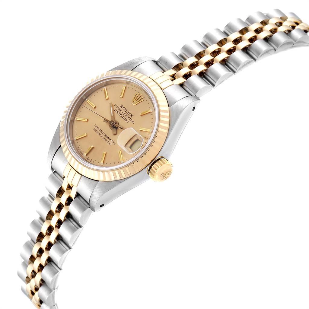 24375 Rolex Datejust Steel Yellow Gold Fluted Bezel Ladies Ladies Watch 69173 SwissWatchExpo