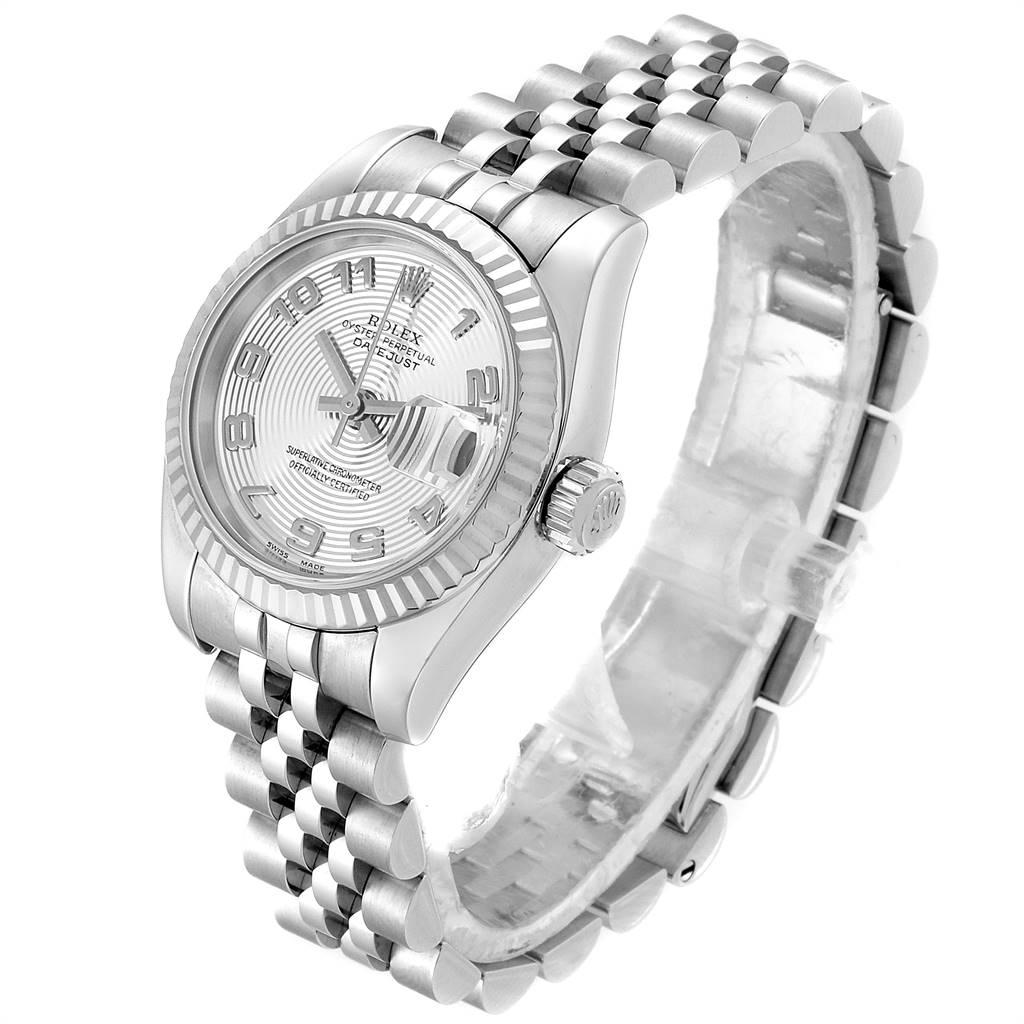 24978 Rolex Datejust 26 Steel White Gold Silver Dial Ladies Watch 179174 SwissWatchExpo