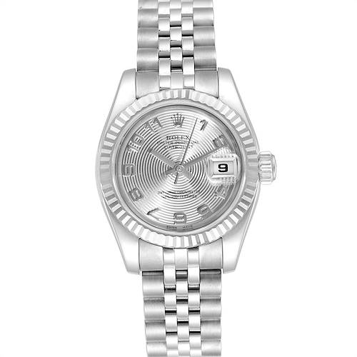 Photo of Rolex Datejust 26 Steel White Gold Silver Dial Ladies Watch 179174