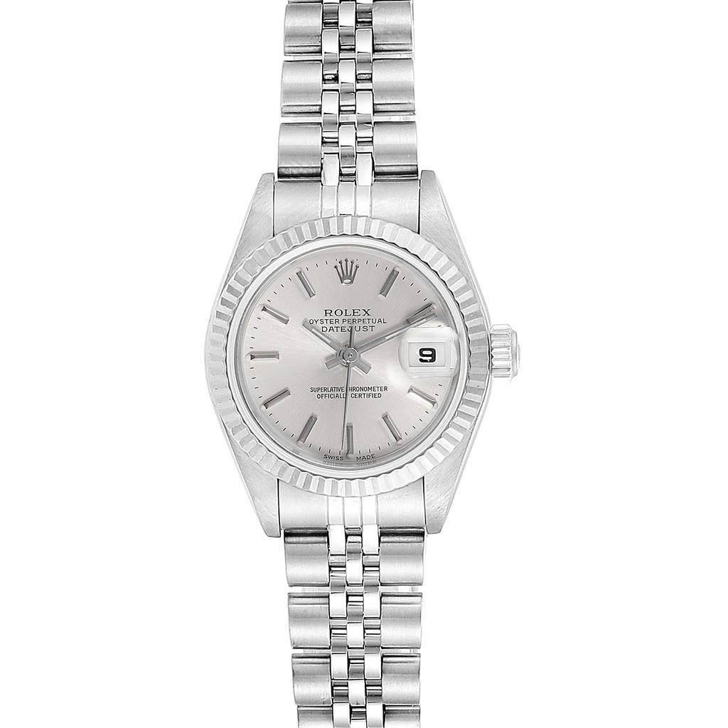 24900 Rolex Datejust 26 Steel White Gold Silver Dial Ladies Watch 79174 SwissWatchExpo
