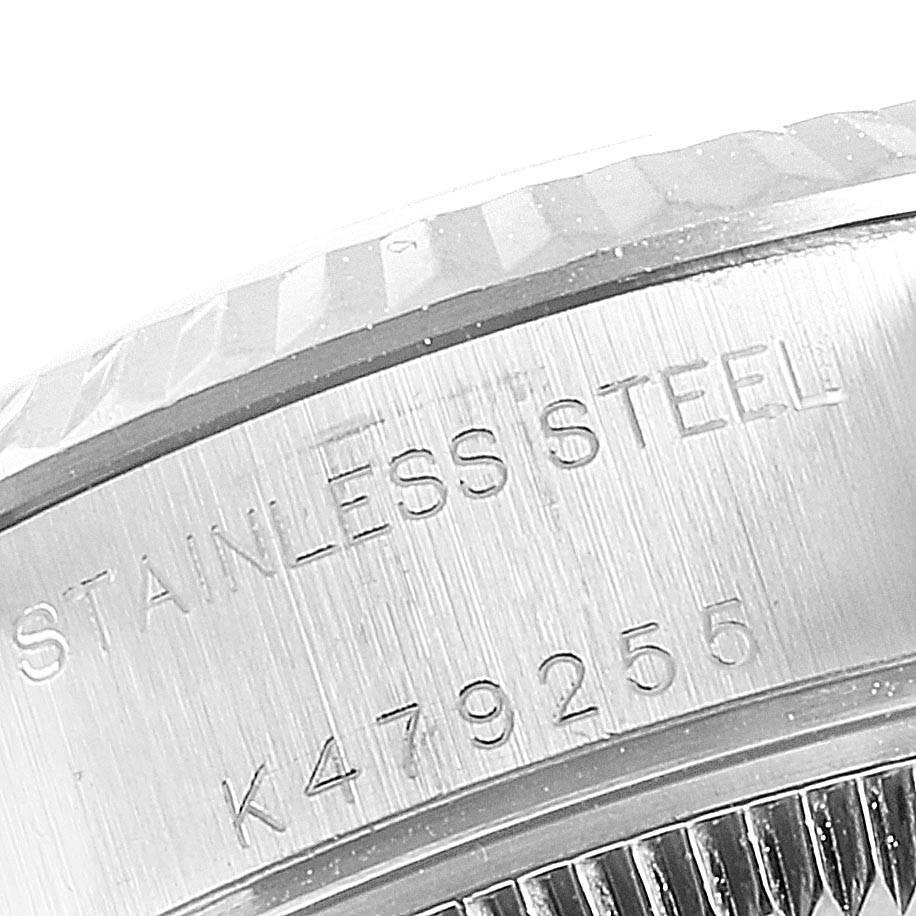 24863 Rolex Datejust 26 Steel White Gold Rodium Dial Ladies Watch 79174 SwissWatchExpo