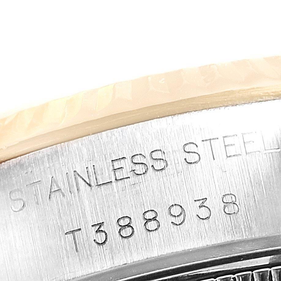 24852 Rolex Datejust Steel Yellow Gold Black Diamond Dial Ladies Watch 69173 SwissWatchExpo