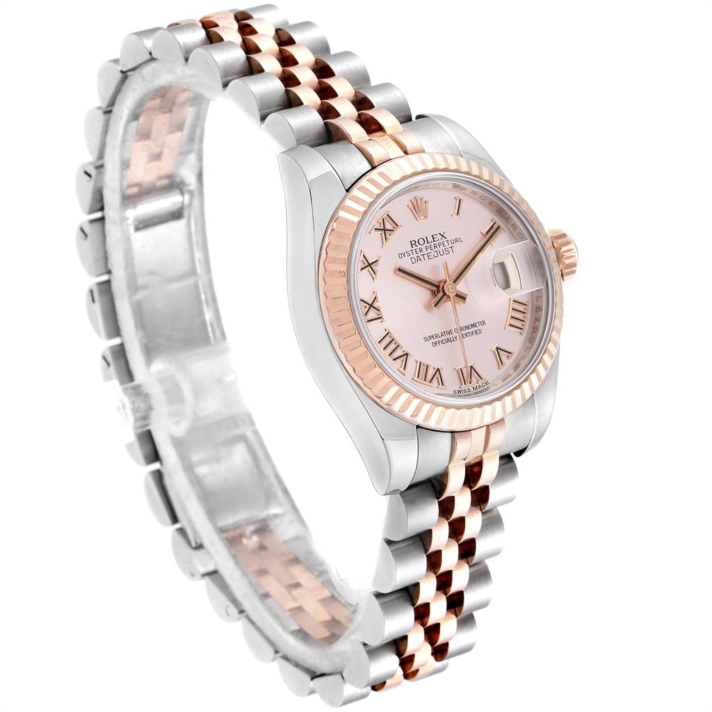 25109 Rolex Datejust Steel Everose Gold Rose Dial Ladies Watch 179171 Box Papers SwissWatchExpo