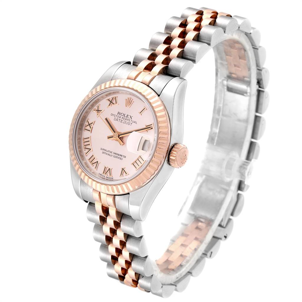 Rolex Datejust Steel Everose Gold Rose Dial Ladies Watch 179171 Box Papers SwissWatchExpo