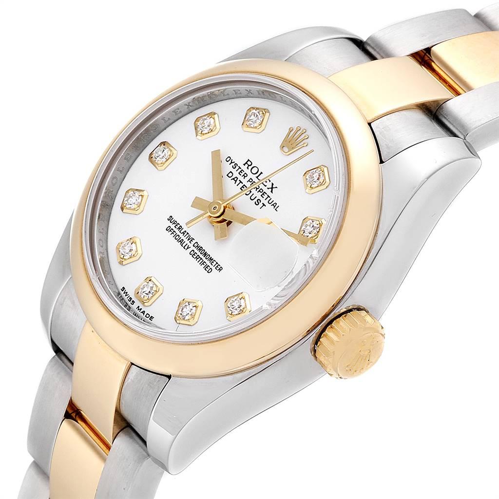 24981 Rolex Datejust Steel Yellow Gold Diamond Ladies Watch 179163 Box Card SwissWatchExpo