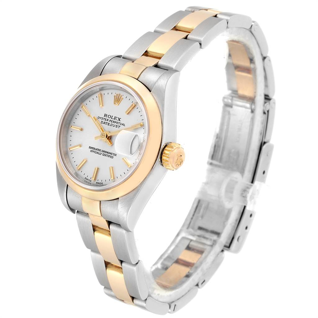 24876 Rolex Datejust Steel Yellow Gold Silver Dial Ladies Watch 79163 SwissWatchExpo
