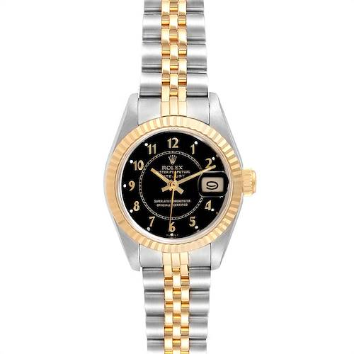 Photo of Rolex Datejust 26 Steel Yellow Gold Black Dial Ladies Watch 69173