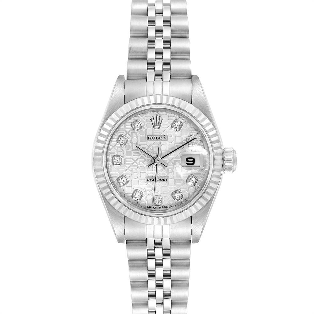 25057 Rolex Datejust Steel White Gold Diamond Ladies Watch 79174 Box Papers SwissWatchExpo