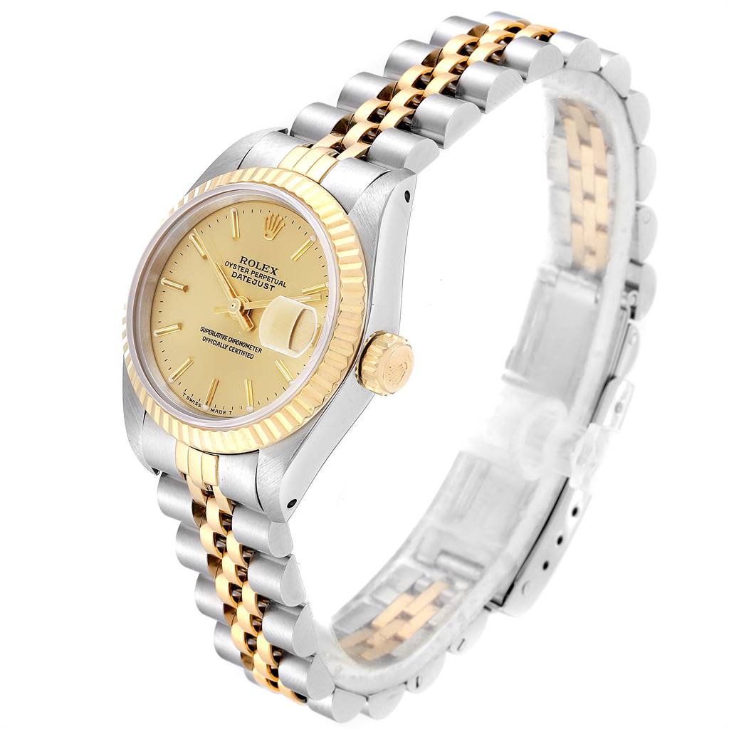 Rolex Datejust Steel Yellow Gold Fluted Bezel Ladies Ladies Watch 69173 SwissWatchExpo