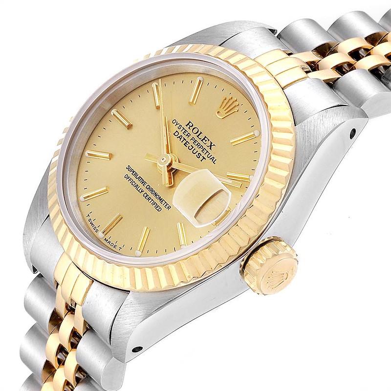 Rolex Datejust Steel Yellow Gold Fluted Bezel Ladies Ladies Watch 69173 SwissWatchExpo