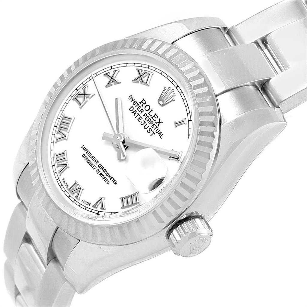 17552A Rolex Datejust 26 Steel White Gold Oyster Bracelet Ladies Watch 179174 SwissWatchExpo