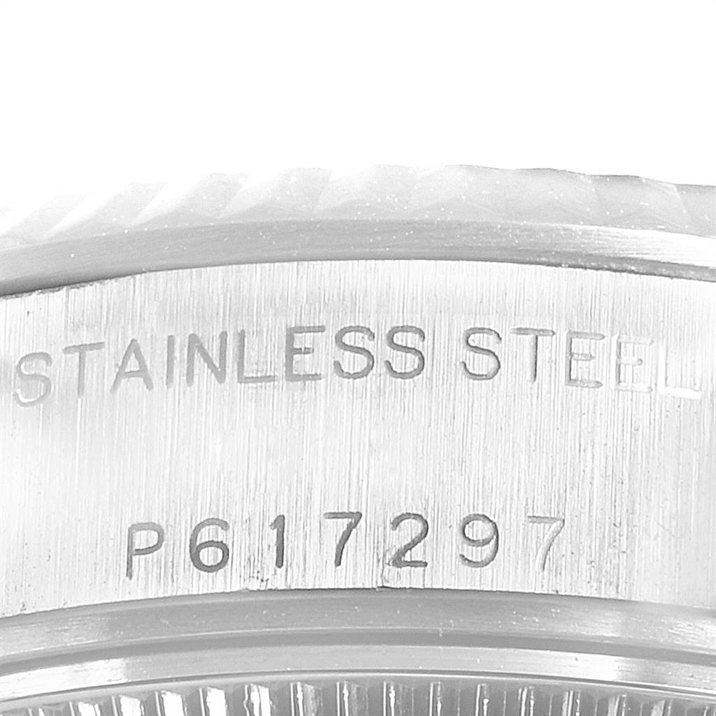 24991 Rolex Datejust 26 Steel White Gold Rodium Dial Ladies Watch 79174 SwissWatchExpo
