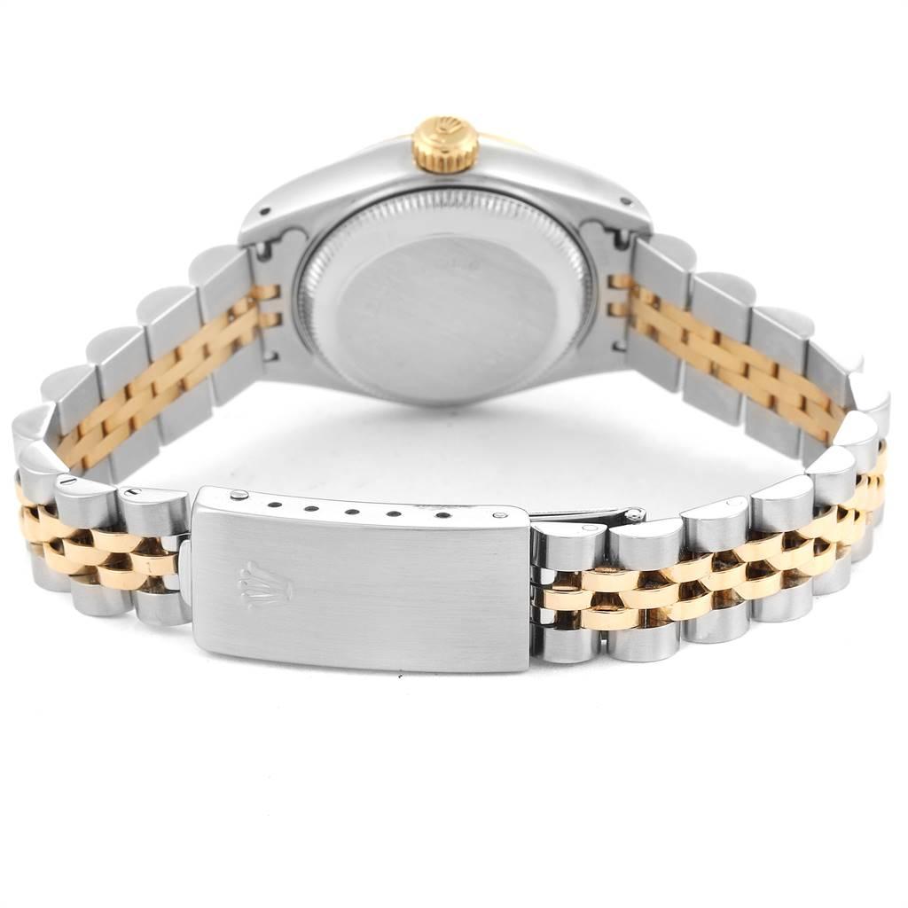 24897 Rolex Datejust Steel Yellow Gold White Dial Ladies Watch 69173 SwissWatchExpo