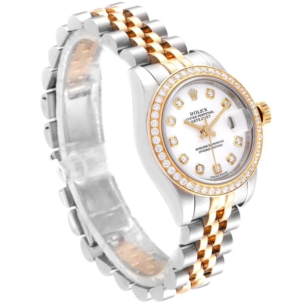 24855 Rolex Datejust 26 Steel Yellow Gold Diamond Ladies Watch 179383 Box Card SwissWatchExpo
