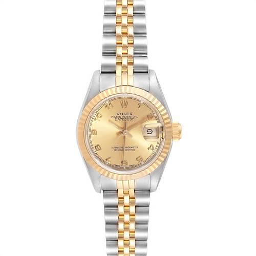 Photo of Rolex Datejust Steel Yellow Gold Jubilee Bracelet Ladies Ladies Watch 69173