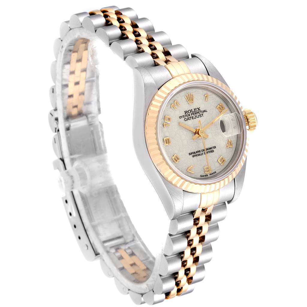 24874 Rolex Datejust Steel Yellow Gold Jubilee Dial Ladies Watch 69173 Box Papers SwissWatchExpo