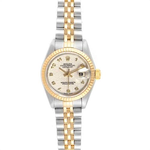 Photo of Rolex Datejust Steel Yellow Gold Jubilee Dial Ladies Watch 69173 Box Papers