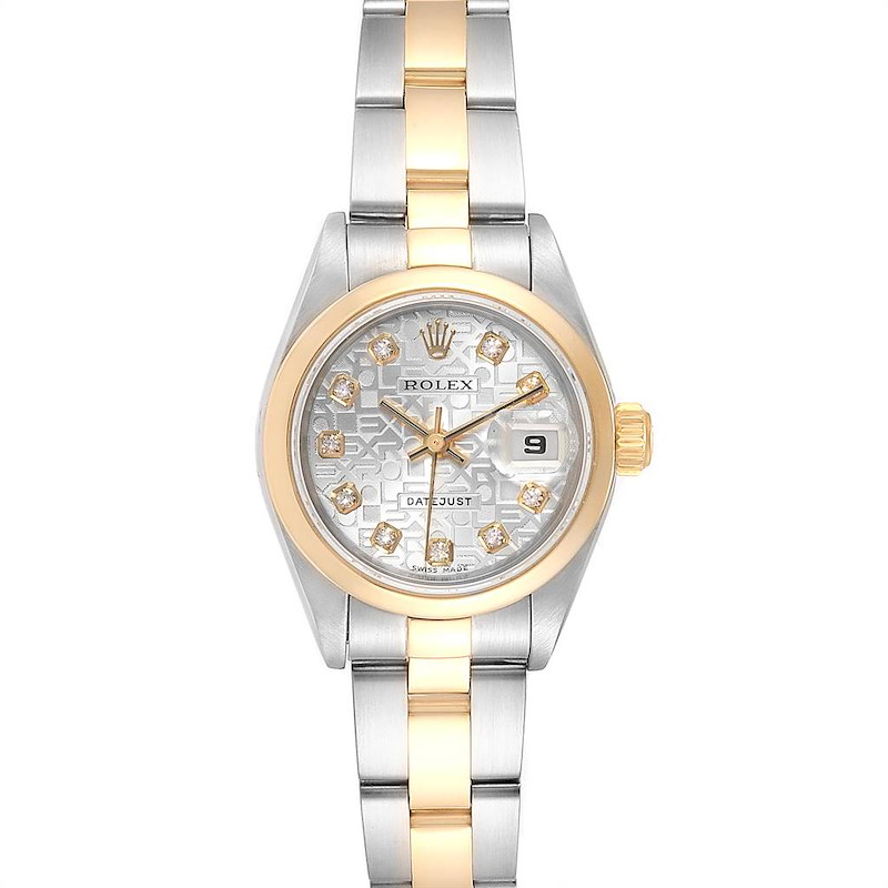 Rolex Datejust 26 Steel Yellow Gold Diamond Ladies Watch 79163 SwissWatchExpo